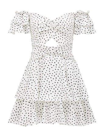 Paris Polka Dot Mini Dress - Womens Fashion Online | Ever New Clothing white