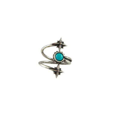 Rings   Shop Women's Mystical Wrap Ring In Antique Silver With Turquoise at Fashiontage   R100.TRQ.AS