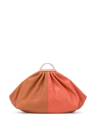 The Volon Two-Tone Clutch Bag B20841 Orange | Farfetch