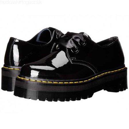 Dr. Martens Holly Lolita Shoe Black Patent Lamper DYNZZTU