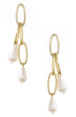 Ettika Freshwater Pearl Drop Earrings | Nordstrom