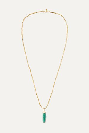 Gold Salsa gold-plated emerald necklace | Bibi Marini | NET-A-PORTER