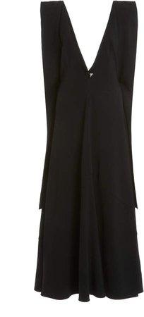 Victoria Beckham Drape-Detailed Cady Midi Dress