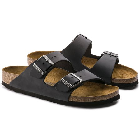 Arizona Oiled Leather Black | shop online at BIRKENSTOCK