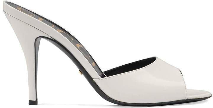 slip-on stiletto sandals