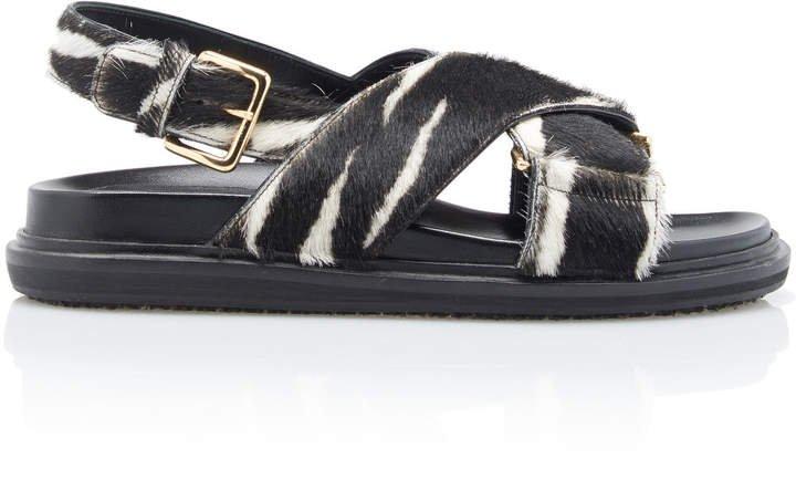 Fussbett Zebra-Printed Slingback Sandals