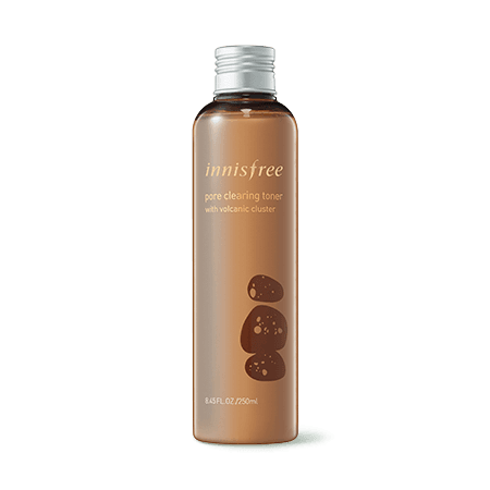 Pore clearing toner with volcanic cluster