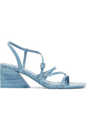 Mercedes Castillo   Kelise croc-effect leather sandals   NET-A-PORTER.COM