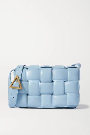 Light blue Cassette intrecciato leather shoulder bag | Bottega Veneta | NET-A-PORTER