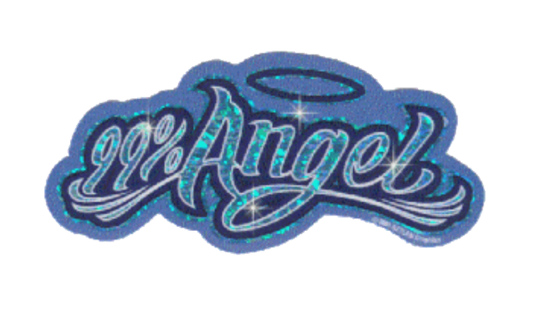 angel sparkly sparkle sticker y2k cute blue angelic ang...