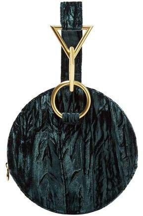 Azar Crushed-velvet Clutch