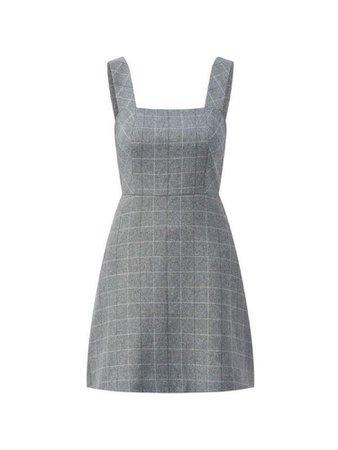 plaid grey dress