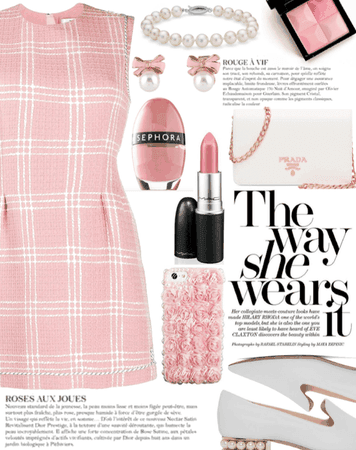 Pink Spring Checked Dress 2021 Outfit   ShopLook