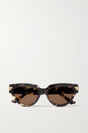 Bottega Veneta | Cat-eye tortoiseshell acetate sunglasses | NET-A-PORTER.COM