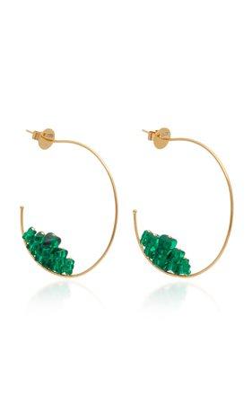 Lauren X Khoo Gummy Bear 18K Gold and Quartz Hoop Earrings