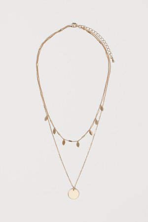 Double-strand Necklace - Gold