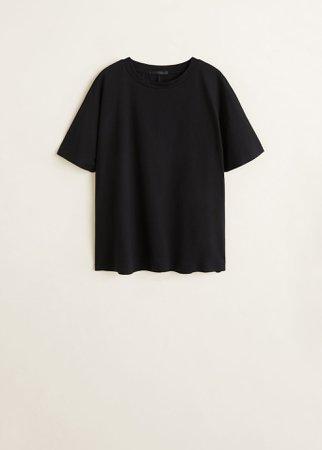 Organic cotton t-shirt - f foPlain Women | Mango USA