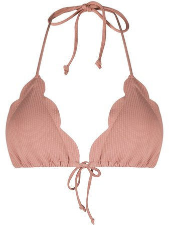 Marysia Scalloped Detail Bikini Top - Farfetch