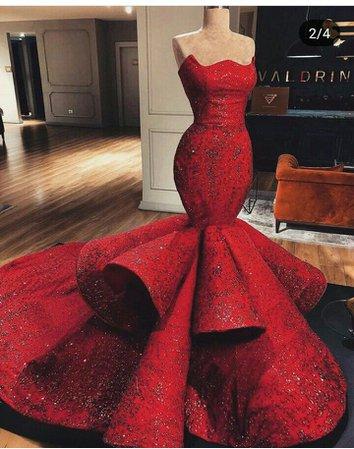 big red mermaid dress - Google Search