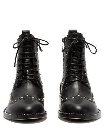 Hanah faux-pearl studded leather boots | Jimmy Choo | MATCHESFASHION.COM