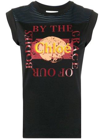 Chloé logo-print Cotton T-shirt - Farfetch