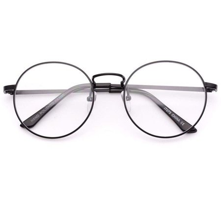 Black Metal Round Framed Glasses