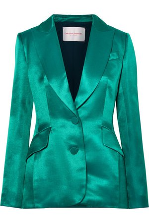 Carolina Herrera | Satin-twill blazer | NET-A-PORTER.COM