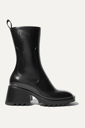 Black Betty rubber boots | Chloé | NET-A-PORTER