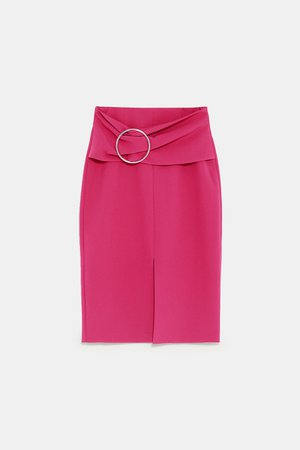 PENCIL SKIRT WITH BUCKLE - View All-SKIRTS-WOMAN | ZARA United States