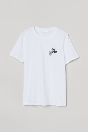 Cotton T-shirt - White