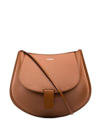 Jil Sander Crescent Crossbody Bag JSPQ850402WQB00059N Brown | Farfetch