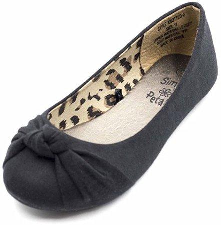 Amazon.com | Simply Petals Girls Knotted Slip on Ballet Flat (Toddler/Little Kid/Big Kid) | Flats