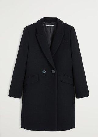 Lapels wool coat - Women | Mango USA