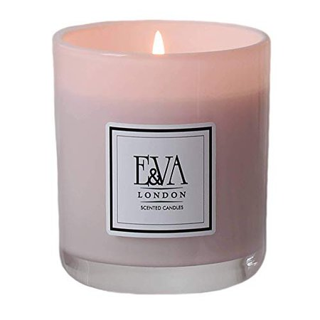 POMEGRANATE Luxury Hand Poured Scented Soy Candle in Pink Glass 30 cl with lid and gift box: Amazon.co.uk: Handmade