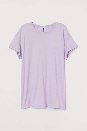 H&M+ Cotton Jersey T-shirt - Purple