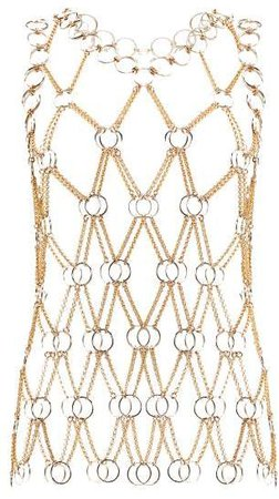 Chainmail Tank Top - Womens - Gold