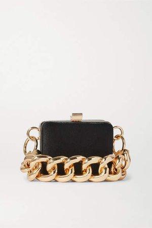 Ralphie Mini Satin Shoulder Bag - Black