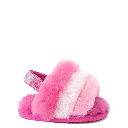 UGG® Fluff Yeah Slide Sandal - Baby / Toddler - Pink / Multicolor | Journeys Kidz