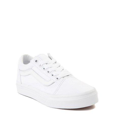 Vans Old Skool Skate Shoe - Little Kid - True White Monochrome | Journeys