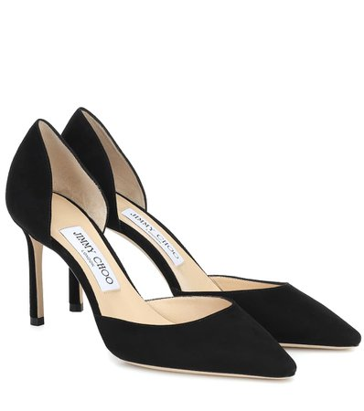 Jimmy Choo - Esther 85 suede pumps | Mytheresa