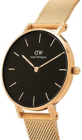 Daniel Wellington Petite Melrose 32mm Watch in Rose Gold | REVOLVE