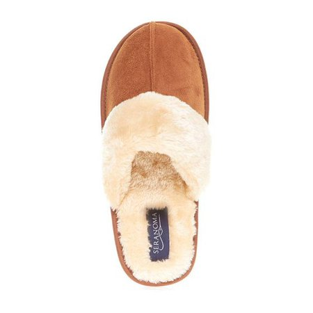 Seranoma Scuff Slippers for Women: Warm Cozy Faux Fur Ladies' House Shoes| Super Comfy FluffyWinter Slip On
