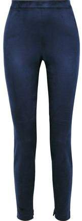 Roxanna Faux Stretch-suede Slim-leg Pants