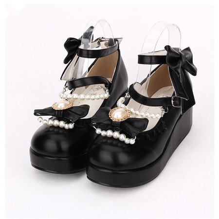 Sapatos Lolita Japonês Doce Princesa Meninas Bowtie Correias Grossas Dedo Do Pé Redondo Sapatos Único fundo Grosso Cosplay UM-in Sapatos from Novidade e uso especial on Aliexpress.com | Alibaba Group
