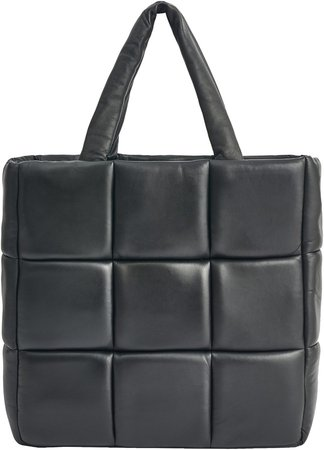Assante Quilted Lambskin Leather Tote