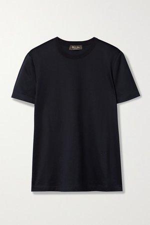Cotton-jersey T-shirt - Navy