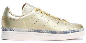 Stan Smith New Bold Perforated Metallic Leather Sneakers