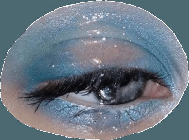 aesthetic eye makeup png moodboard blue pastel...