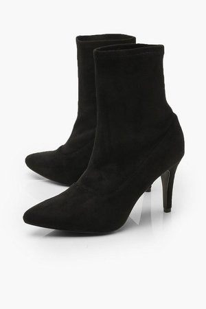 Basic Stiletto Heel Sock Boots | Boohoo