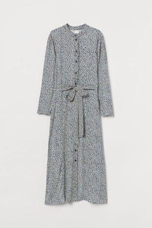 Calf-length Dress - Blue